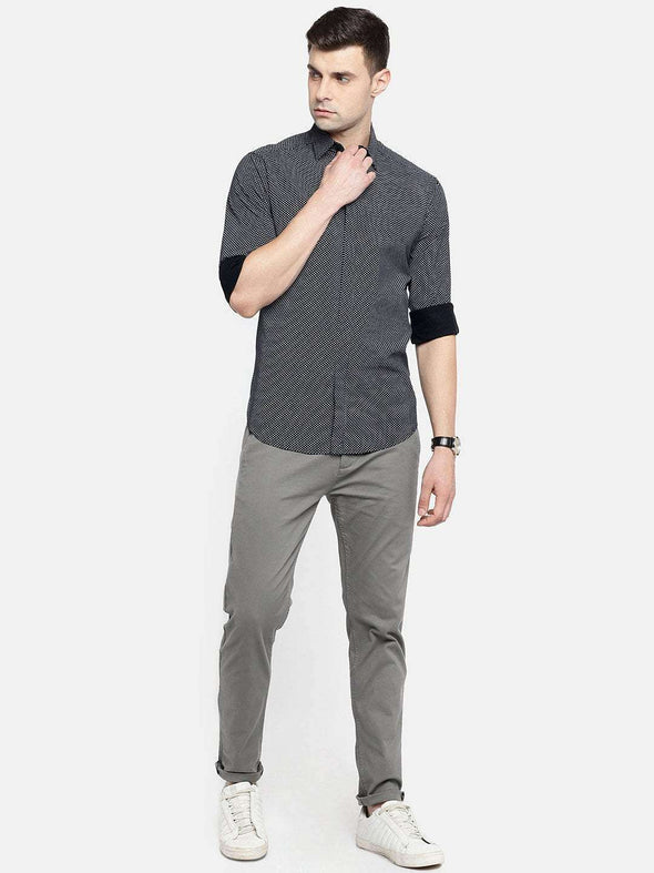 Men's Cotton Black Slim Fit Shirt Cottonworld Men's Shirts