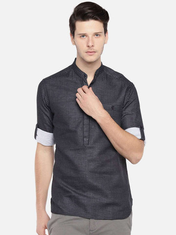Cottonworld Men's Shirts MEN'S 100% COTTON BLACK SLIM FIT SHIRTS