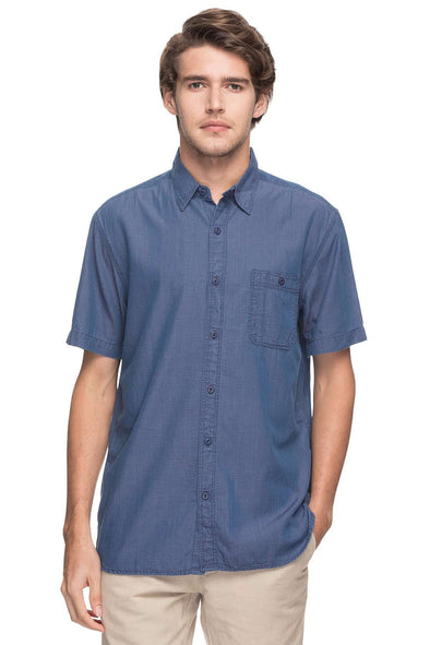 Cottonworld Men's Shirts MEN'S 100% COTTON BLUE REGULAR FIT SHIRTS-14848-17597-BLUE