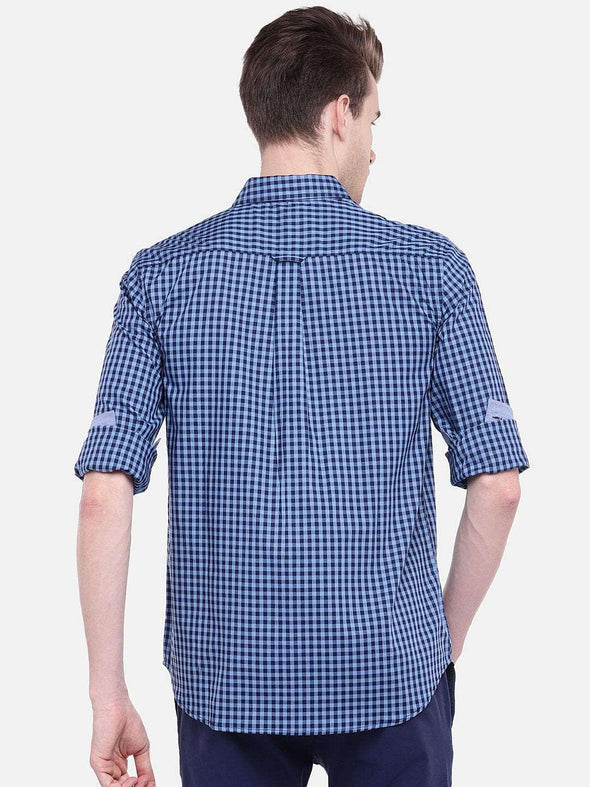 Men's Cotton Blue Regular Fit Shirt Cottonworld Men's Shirts