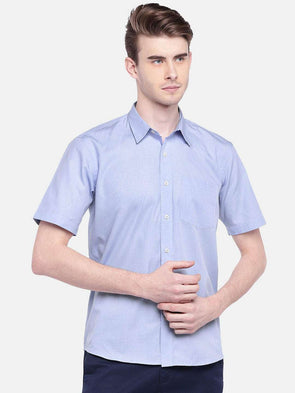Cottonworld Men's Shirts MEN'S 100% COTTON BLUE REGULAR FIT SHIRTS