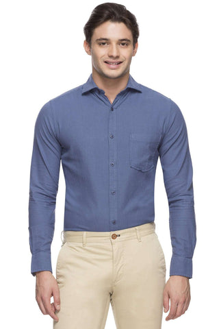 c951c752b9 Cottonworld Men s Shirts MEN S 100% COTTON BLUE SLIM FIT SHIRT