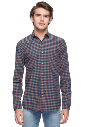 Men's Cotton Brown Regular Fit Shirts-13484-17489-Brown Cottonworld Men's Shirts