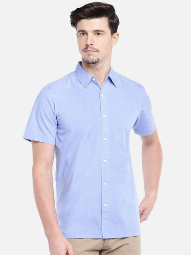 Men's Cotton Dark Blue Regular Fit Shirts Cottonworld Men's Shirts
