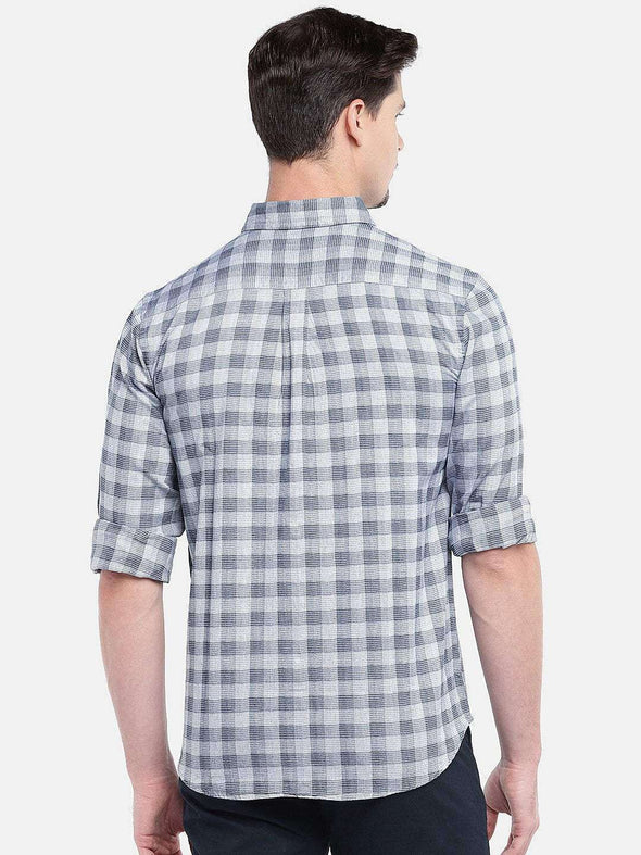 Men's Cotton Grey Regular Fit Shirts Cottonworld Men's Shirts