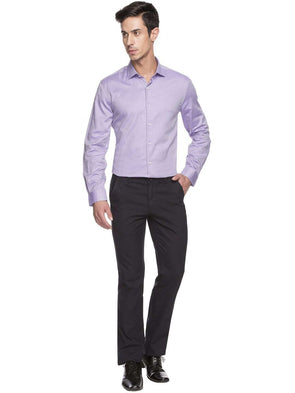 Men's Cotton Lilac Regular Fit Shirts Cottonworld Men's Shirts
