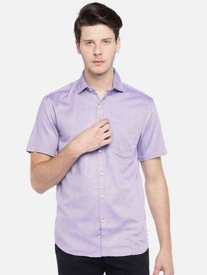 Men's Cotton Lilac Regular Fit Shirt Cottonworld Men's Shirts