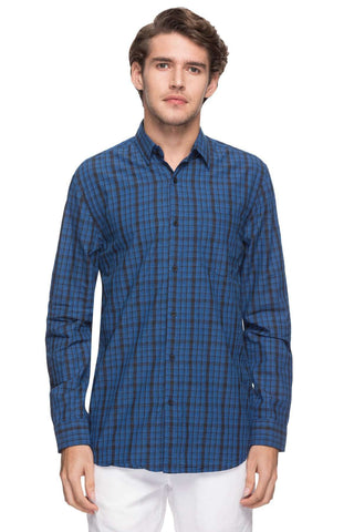 Cottonworld Men's Shirts MEN'S 100% COTTON NAVY REGULAR FIT SHIRTS-13484-17491-NAVY