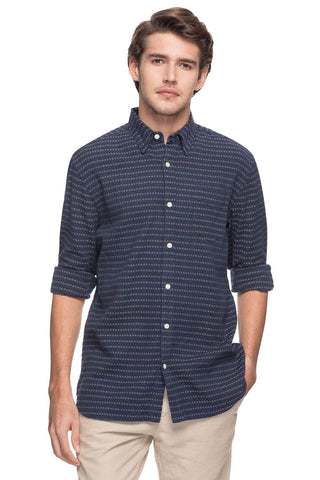 Cottonworld Men's Shirts MEN'S 100% COTTON NAVY REGULAR FIT SHIRTS-14850-17599-NAVY