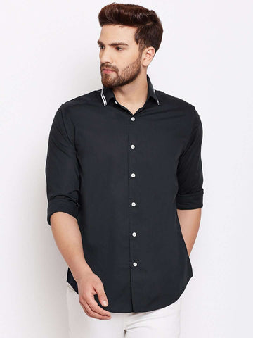 0971c66c77 Cottonworld Men s Shirts MEN S 100% COTTON NAVY SLIM FIT SHIRTS