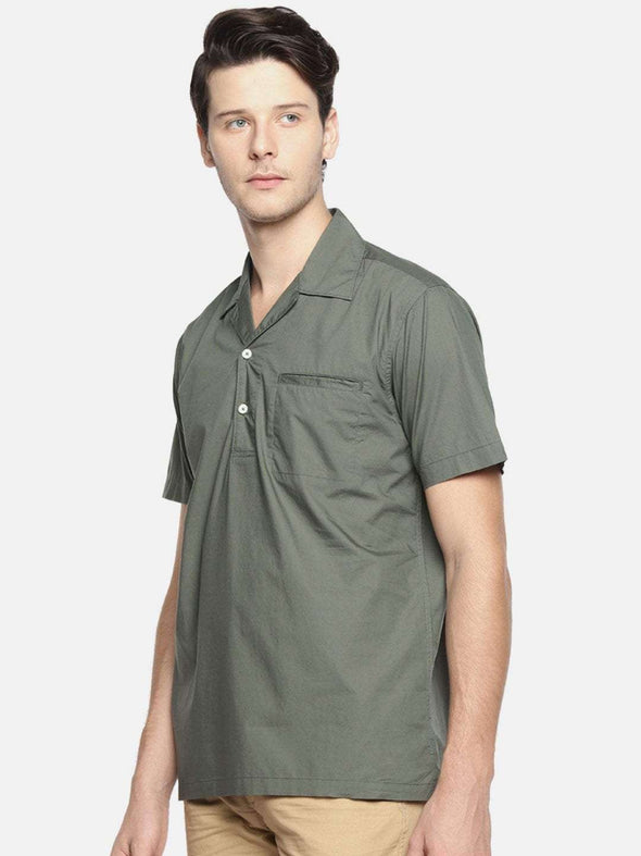 Men's Cotton Olive Regular Fit Shirts Cottonworld Men's Shirts