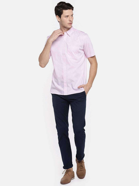 Cottonworld Men's Shirts MEN'S 100% COTTON PINK REGULAR FIT SHIRTS