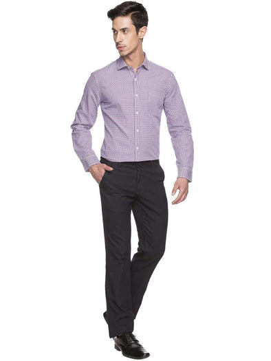 Men's Cotton Purple Regular Fit Shirts Cottonworld Men's Shirts