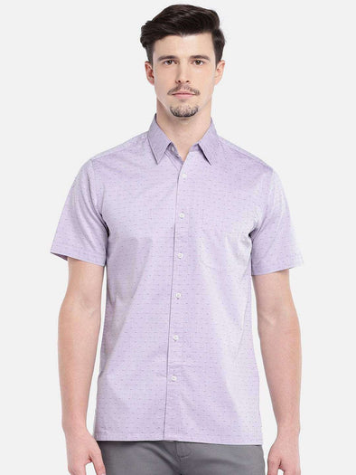 Cottonworld Men's Shirts MEN'S 100% COTTON PURPLE REGULAR FIT SHIRTS