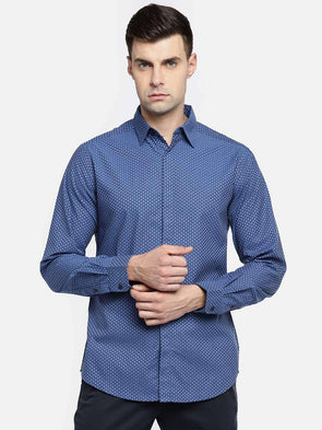 Cottonworld Men's Shirts MEN'S 100% COTTON PURPLE SLIM FIT SHIRTS