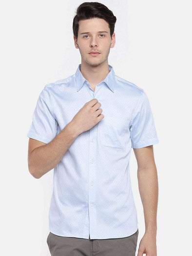Men's Cotton Sky Blue Regular Fit Shirt Cottonworld Men's Shirts