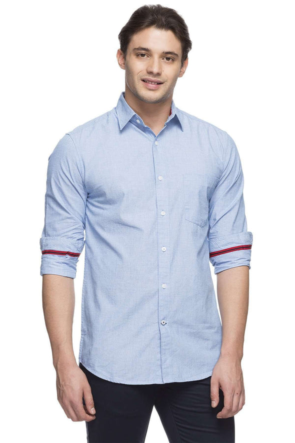Cottonworld Men's Shirts MEN'S 100% COTTON SKY REGULAR FIT SHIRT
