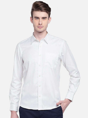 Cottonworld Men's Shirts MEN'S 100% COTTON WHITE A REGULAR FIT SHIRTS