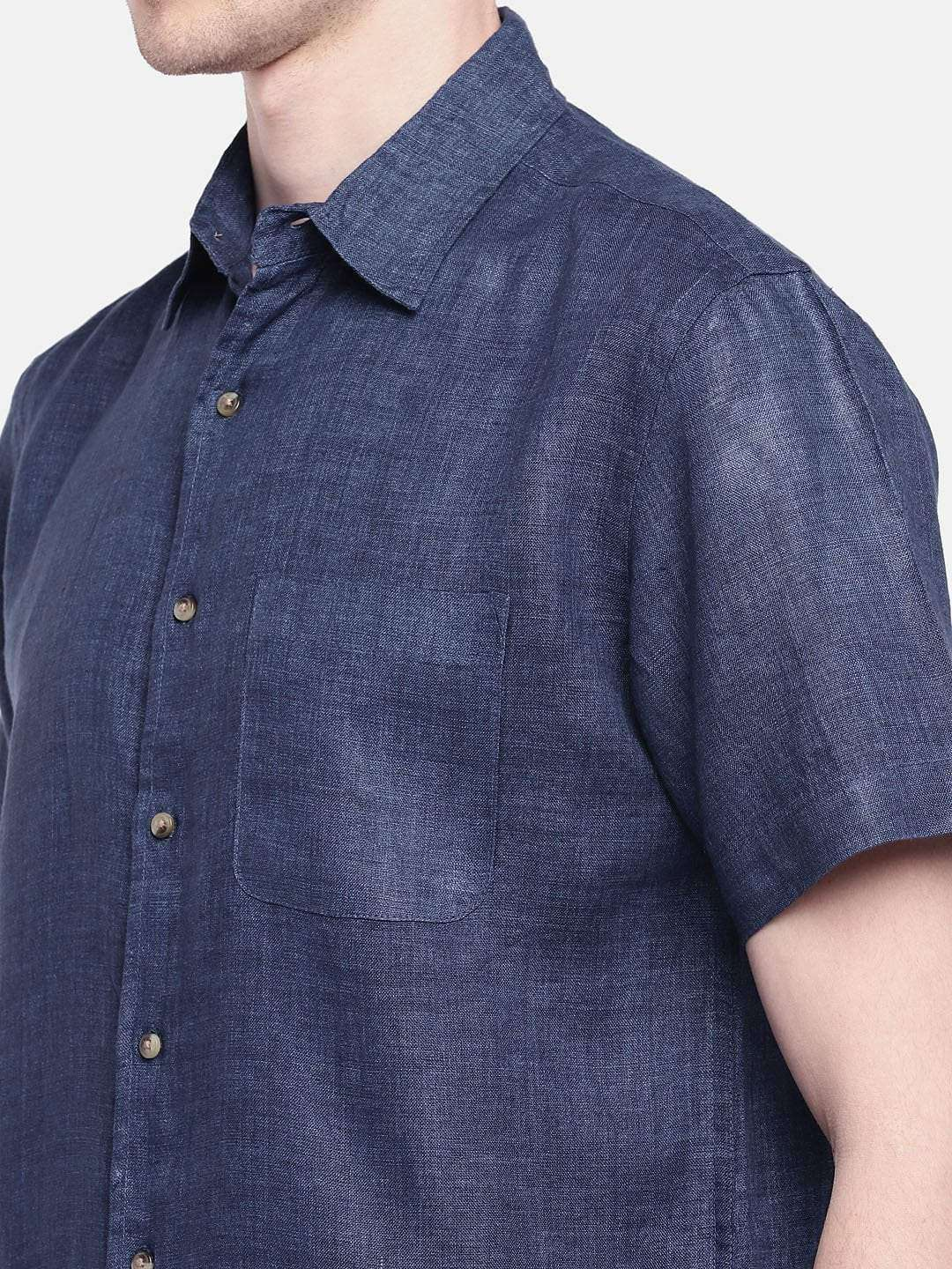 0384e64836c NAVY WOVEN SHIRTS | MEN'S CASUAL WEAR REGULAR FIT WOVEN SHIRTS
