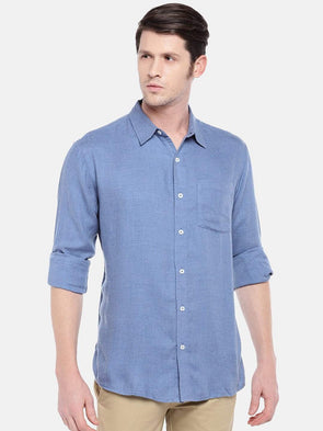 Men's Cotton Blue Regular Fit Shirts Cottonworld Men's Shirts