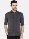 Men's Cotton Flax Black Regular Fit Shirt Cottonworld Men's Shirts