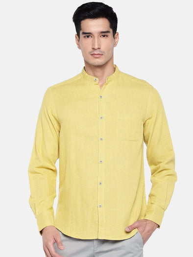 Men's Cotton Mustard Slim Fit Shirts Cottonworld Men's Shirts