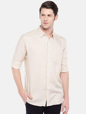Cottonworld Men's Shirts Men's Cotton Natural Regular Fit Shirts