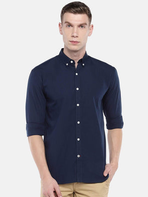 Men's Cotton Navy Regular Fit Shirts Cottonworld Men's Shirts