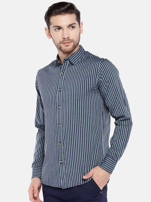 Men's Cotton Olive Slim Fit Shirt Cottonworld Men's Shirts