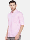 Men's Cotton Pink Regular Fit Pin Striped Shirt Cottonworld Men's Shirts