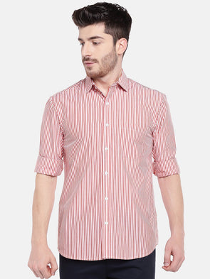 Men's Cotton Red Regular Fit Shirts Cottonworld Men's Shirts