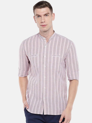 Men's Cotton Red Regular Fit Shirt Cottonworld Men's Shirts