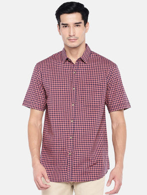 Men's Cotton Rust Regular Fit Shirt Cottonworld Men's Shirts