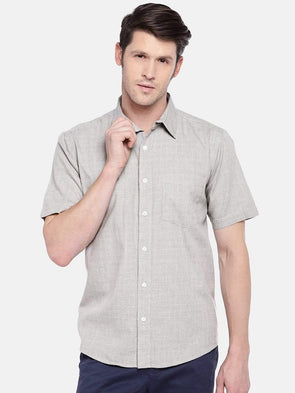 Men's Cotton Sand Regular Fit Shirts Cottonworld Men's Shirts