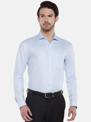 Cottonworld Men's Shirts Men's Cotton Sky Regular Fit Shirts