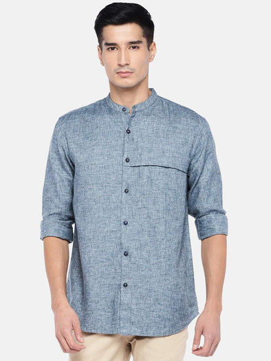 Men's Cotton Slate Regular Fit Kurta Shirt Cottonworld Men's Shirts
