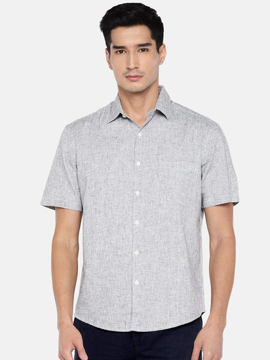 Cottonworld Men's Shirts Men's Cotton Slate Regular Fit Shirts