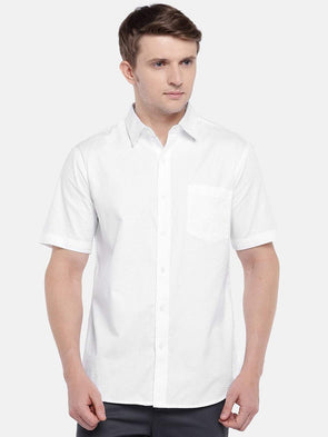 Men's Cotton White A Regular Fit Shirts Cottonworld Men's Shirts