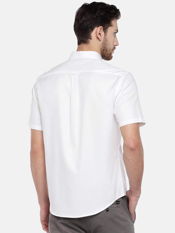 Men's Cotton White Regular Fit Shirt Cottonworld Men's Shirts