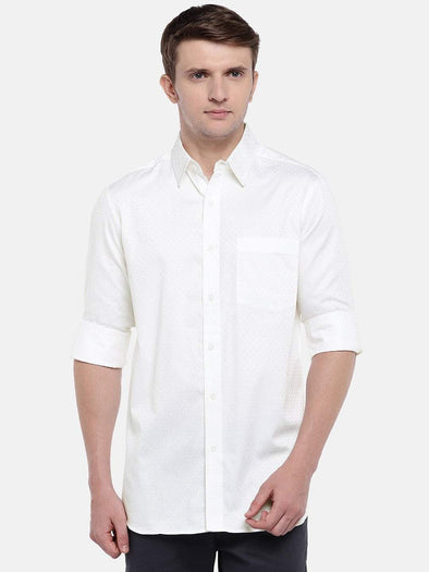 Men's Cotton White Regular Fit Shirts Cottonworld Men's Shirts