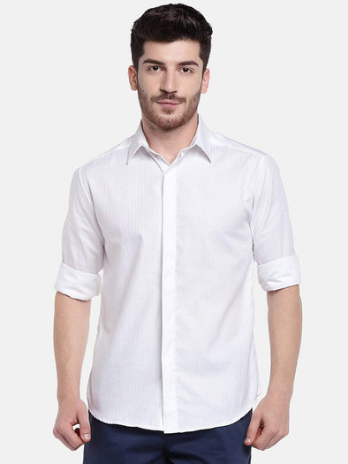 Men's Cotton White Slim Fit Shirts Cottonworld Men's Shirts