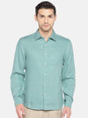 Men's Cotton Woven Mint Regular Fit Shirt Cottonworld Men's Shirts