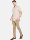 Men's Linen Woven Beige Regular Fit Shirt Cottonworld Men's Shirts