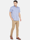 Men's Linen Woven Blue Regular Fit Shirt Cottonworld Men's Shirts
