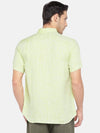 Men's Linen Woven Lime Regular Fit Shirt Cottonworld Men's Shirts