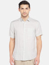 Men's Linen Woven Natural Regular Fit Shirt Cottonworld Men's Shirts