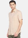 Men's Linen Woven Sand Regular Fit Shirt Cottonworld Men's Shirts