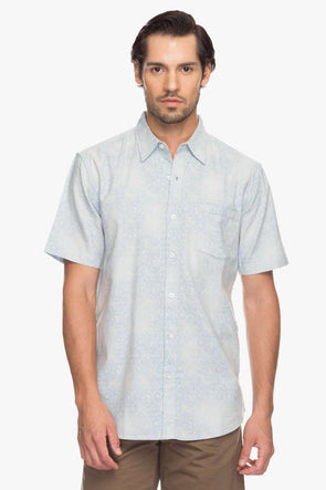 Cottonworld Men's Shirts Men Sky Regular Printed Woven Shirts