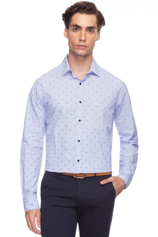Cottonworld Men's Shirts Men Sky Slim Dobby Woven Shirts