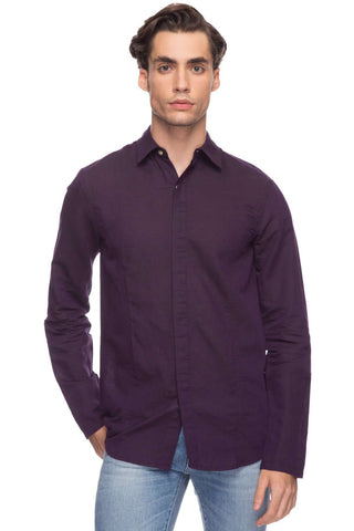 de54bd0d91 Cottonworld Men s Shirts Men Wine Tailored Cotton Shirts